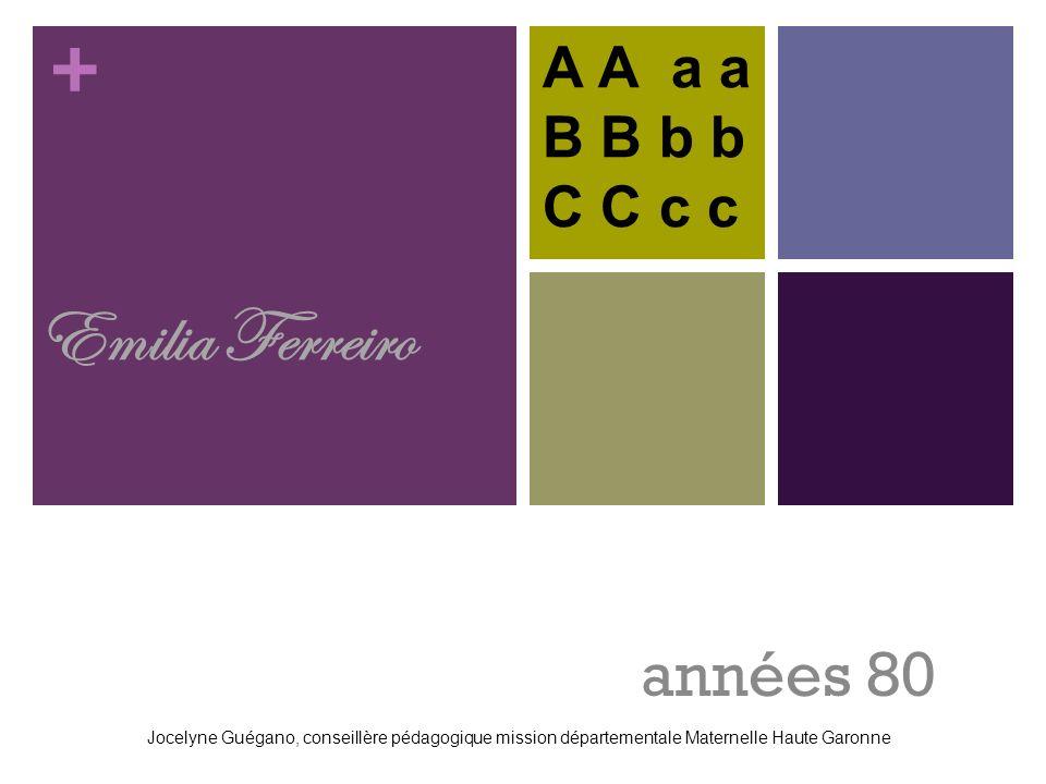 Emilia Ferreiro années 80 A A a a B B b b C C c c