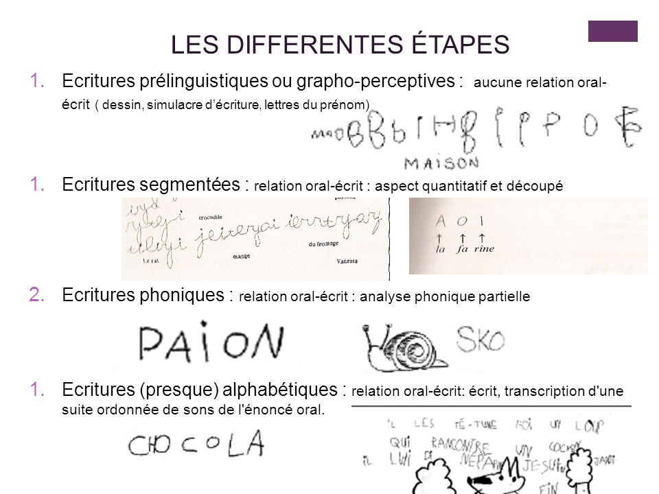 LES DIFFERENTES ÉTAPES