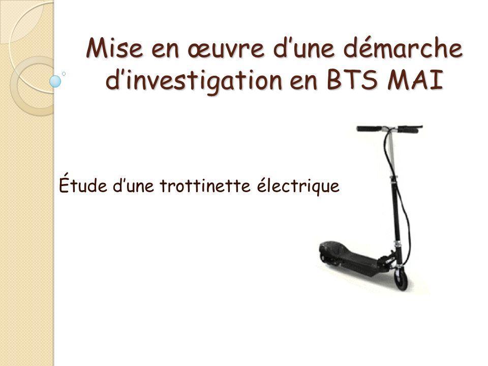 Mise en œuvre d'une démarche d'investigation en BTS MAI