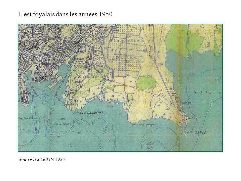 L'est foyalais dans les années 1950