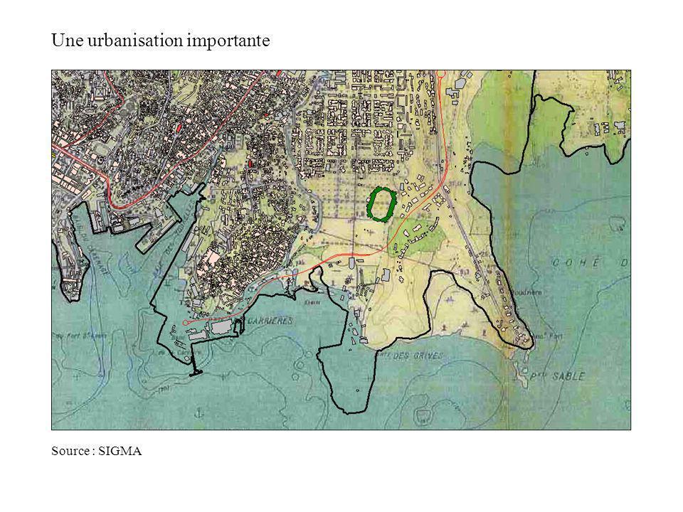 Une urbanisation importante