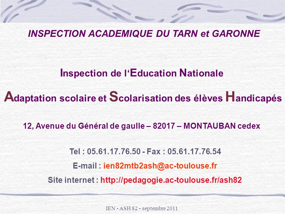 Inspection de l'Education Nationale