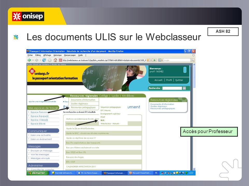 Les documents ULIS sur le Webclasseur