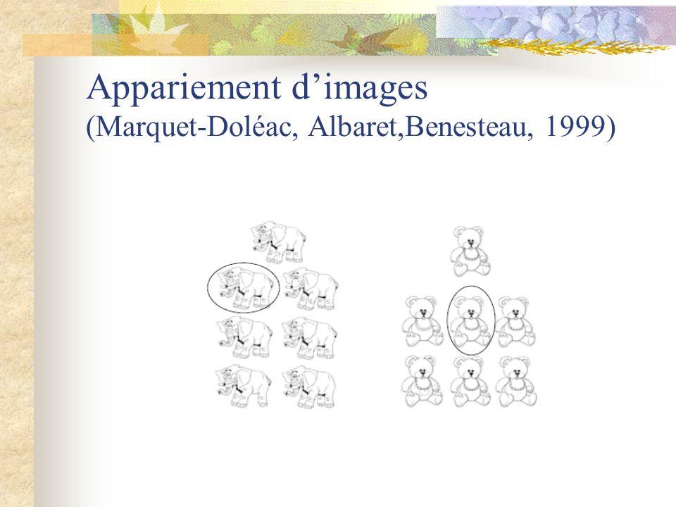 Appariement d'images (Marquet-Doléac, Albaret,Benesteau, 1999)