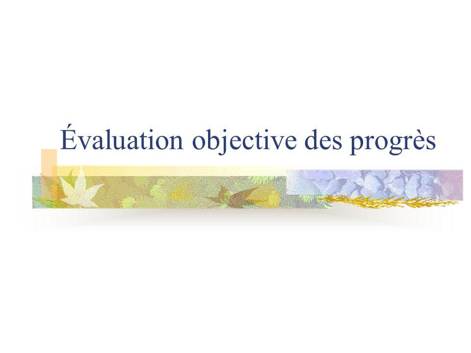 Évaluation objective des progrès