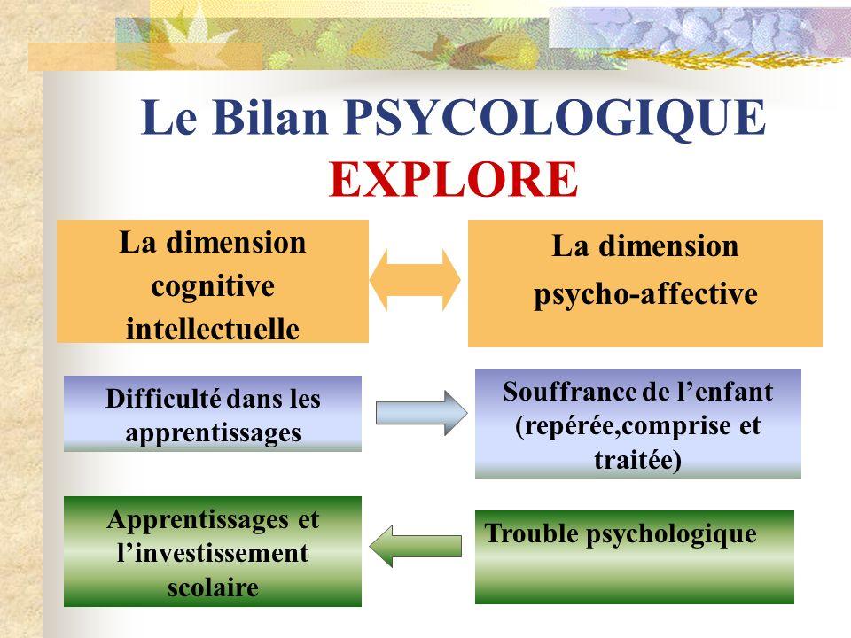 Le Bilan PSYCOLOGIQUE EXPLORE