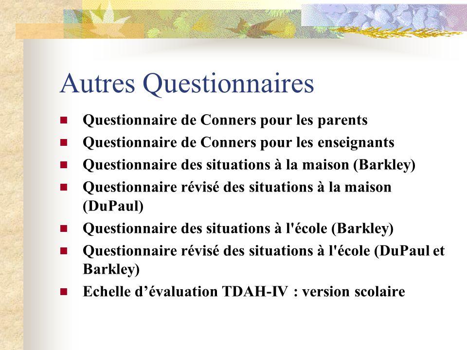 Autres Questionnaires