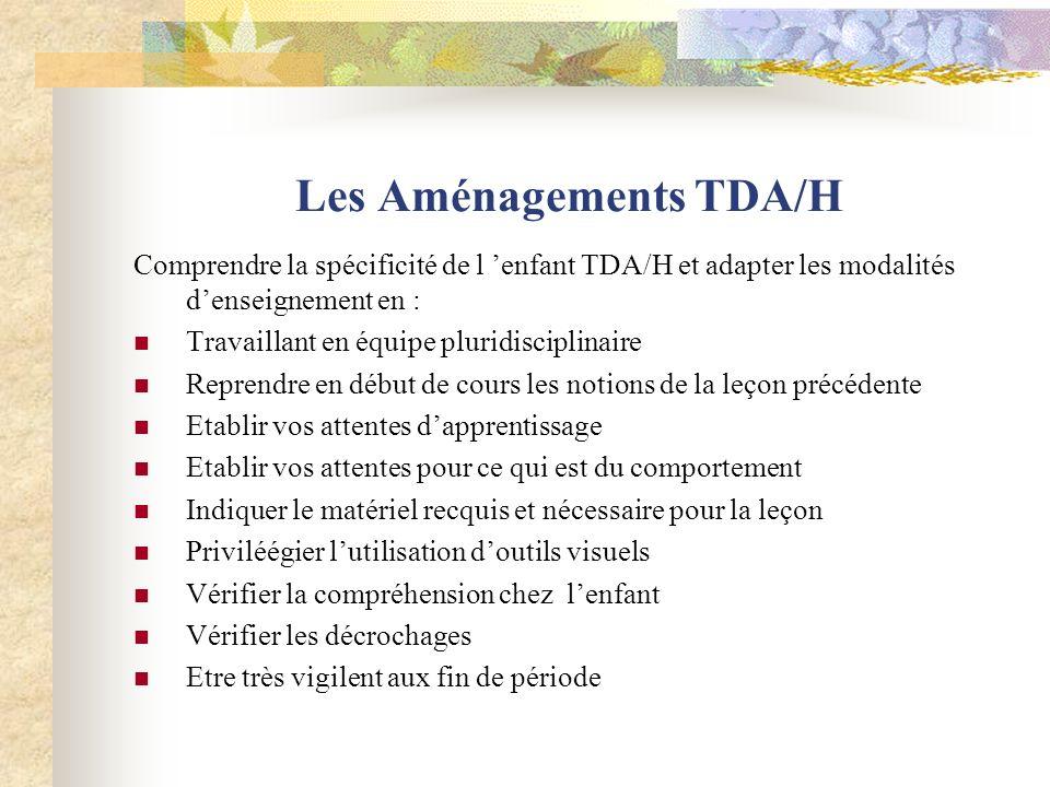 Les Aménagements TDA/H
