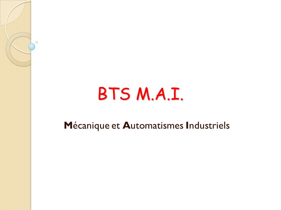 Mécanique et Automatismes Industriels