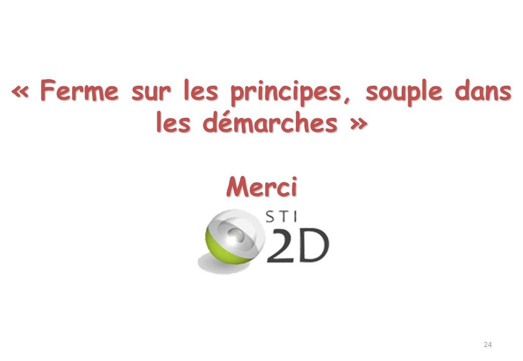 « Ferme sur les principes, souple dans les démarches »