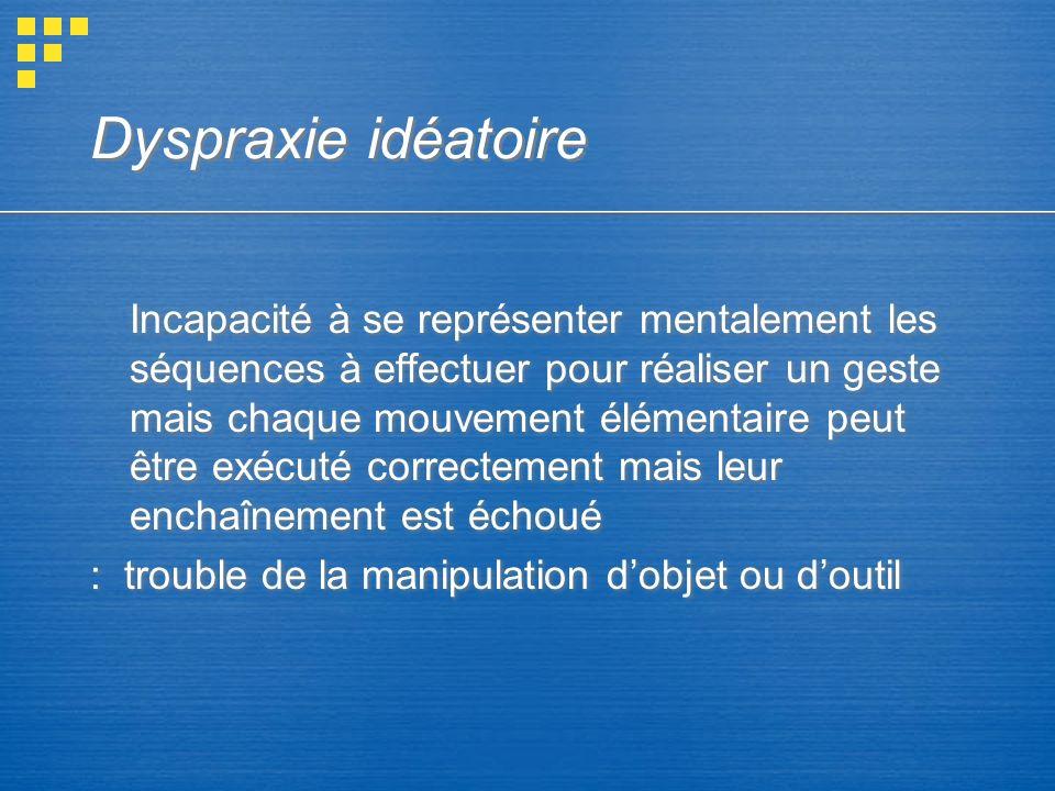 Dyspraxie idéatoire