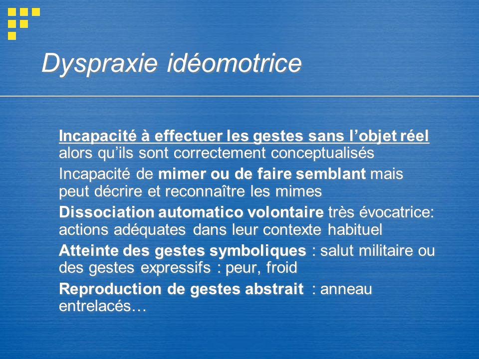 Dyspraxie idéomotrice