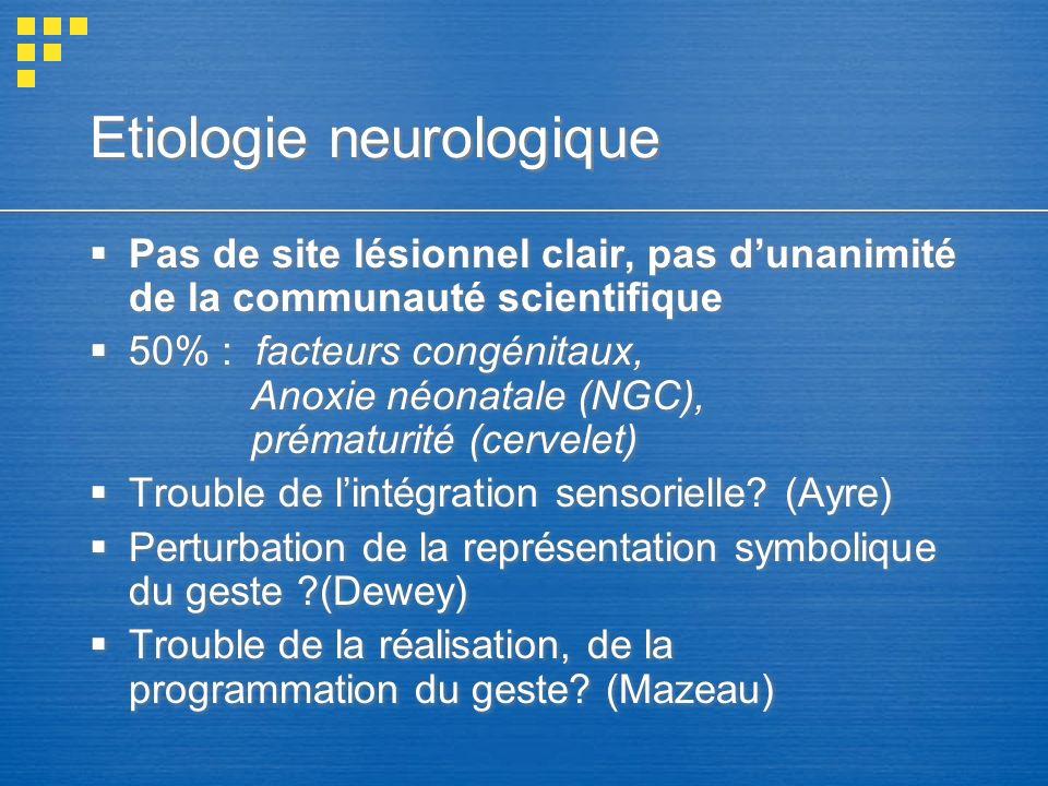Etiologie neurologique