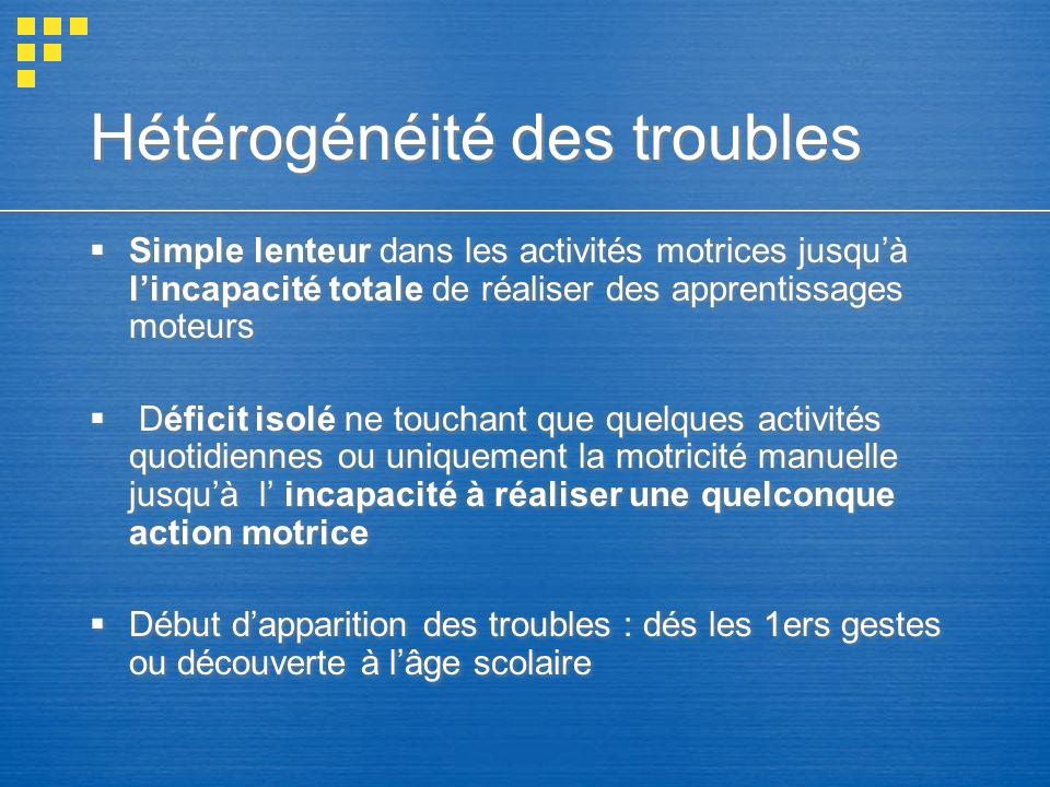 Hétérogénéité des troubles
