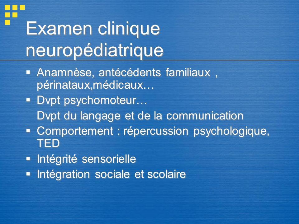 Examen clinique neuropédiatrique