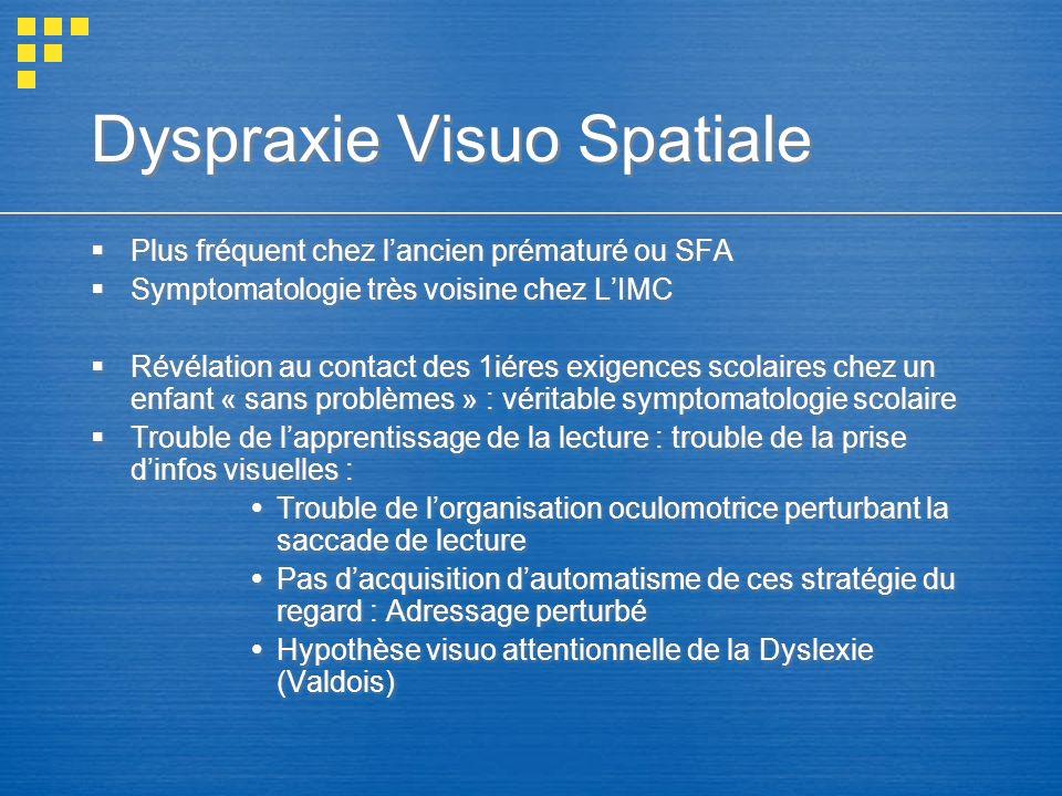 Dyspraxie Visuo Spatiale
