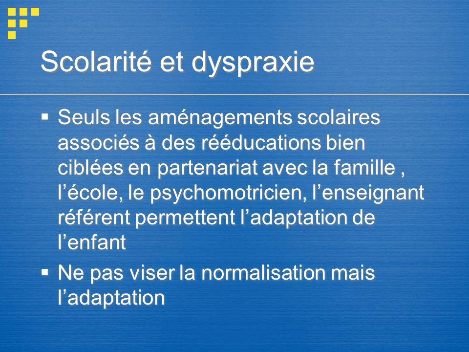 Scolarité et dyspraxie