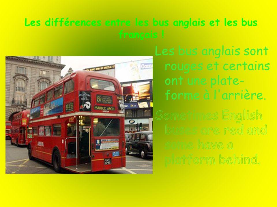 Les différences entre les bus anglais et les bus français !