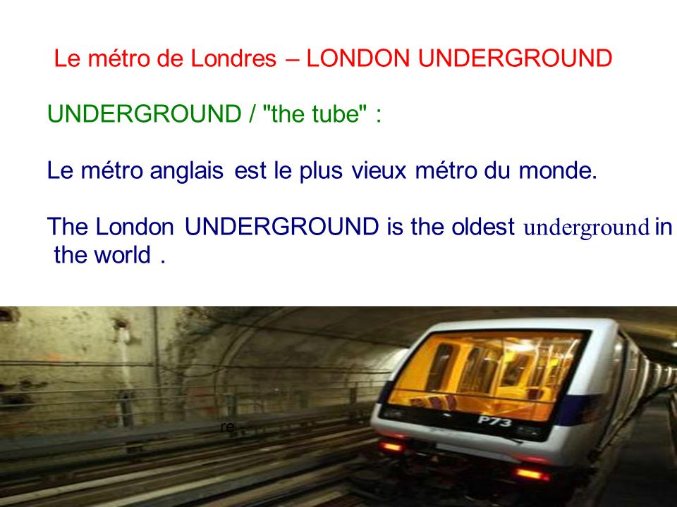 Le métro de Londres – LONDON UNDERGROUND UNDERGROUND / the tube :