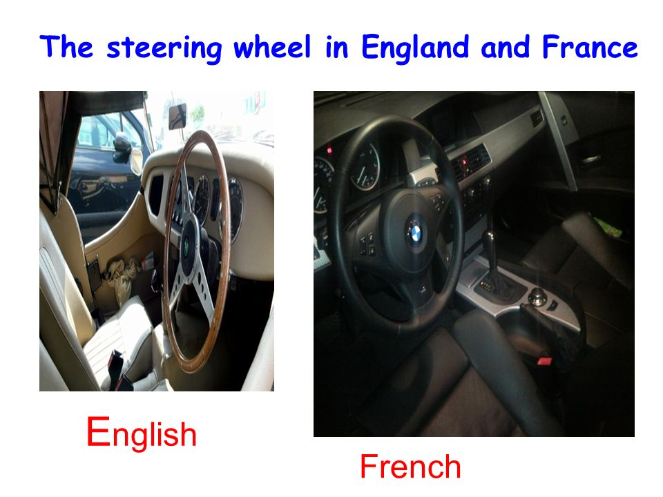 The steering wheel in England and France