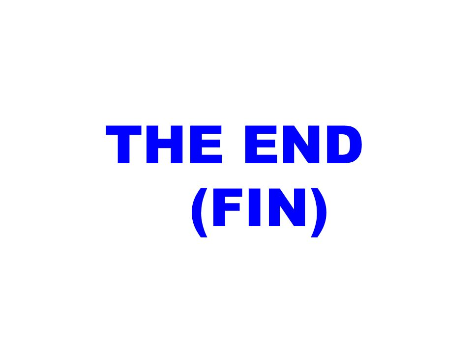 THE END (FIN)