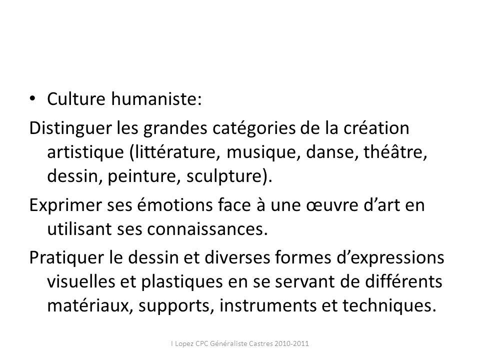 I Lopez CPC Généraliste Castres 2010-2011