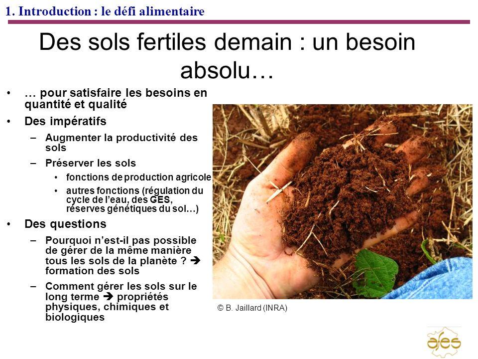 Des sols fertiles demain : un besoin absolu…