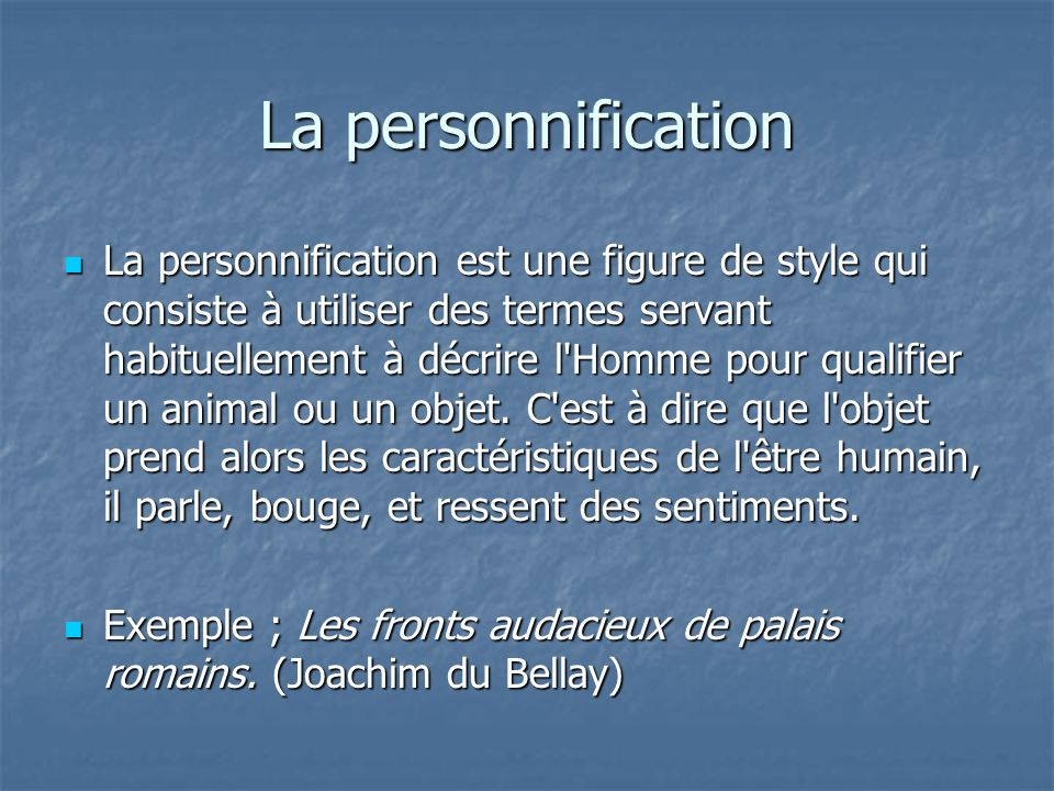 La personnification