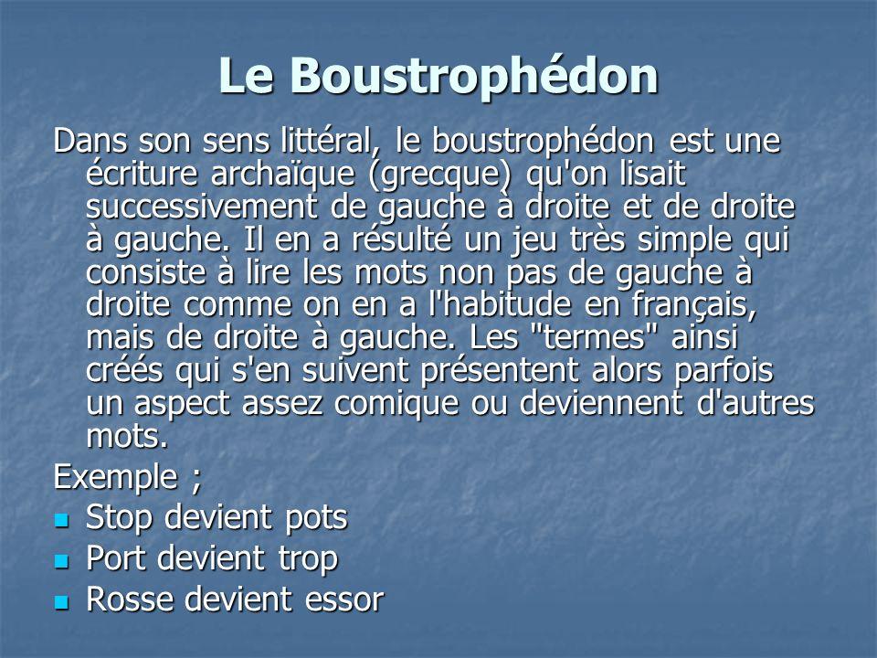 Le Boustrophédon