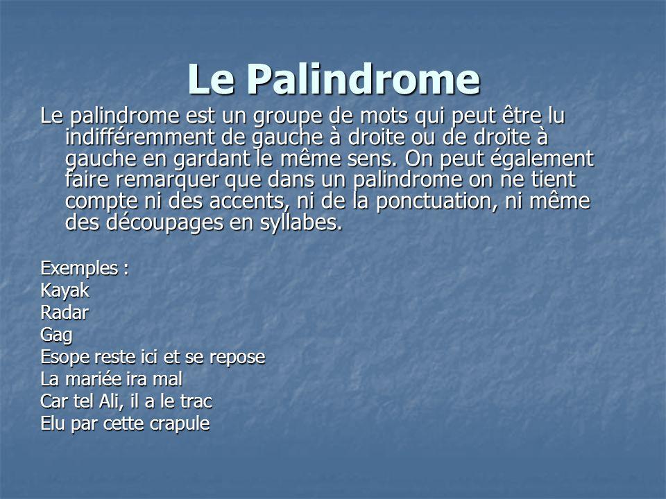 Le Palindrome