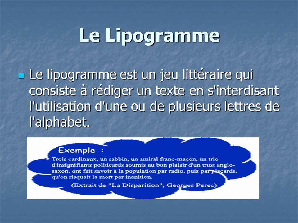 Le Lipogramme