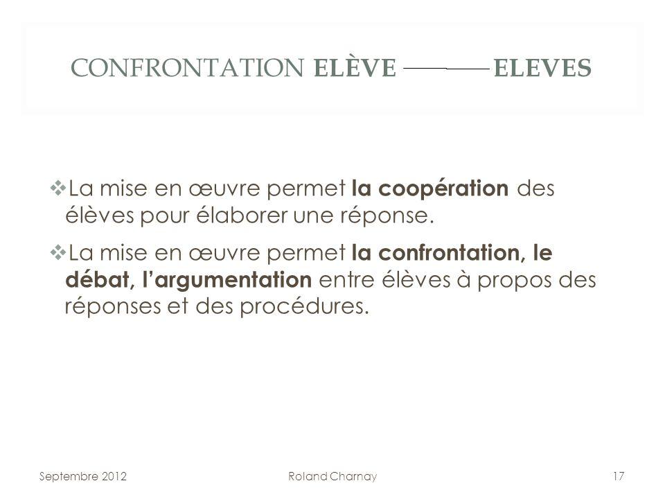 CONFRONTATION ELÈVE ELEVES