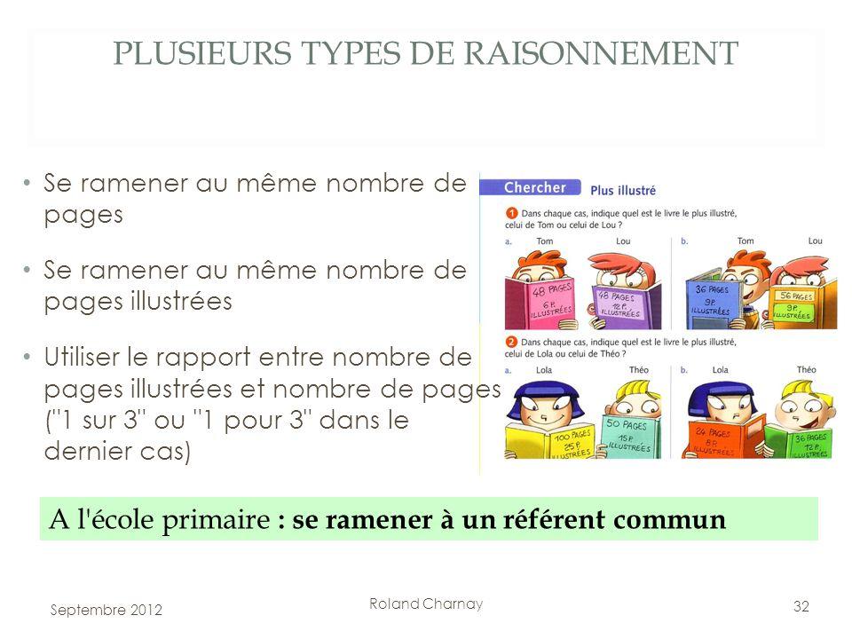 PLUSIEURS TYPES DE RAISONNEMENT