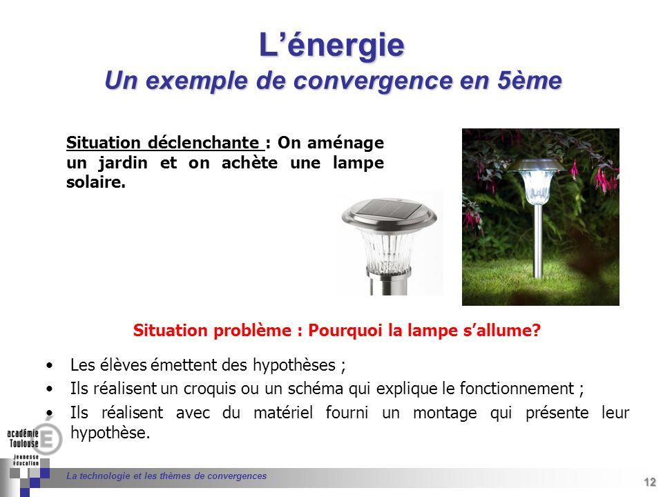 Situation problème : Pourquoi la lampe s'allume