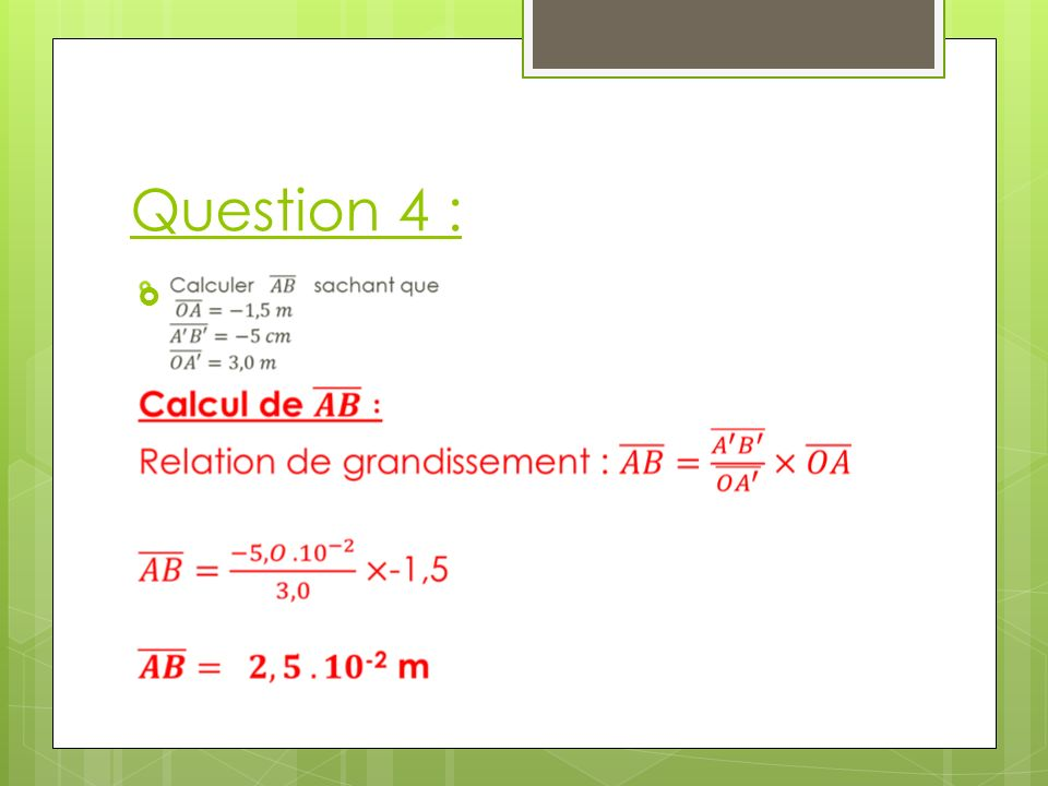 Question 4 :
