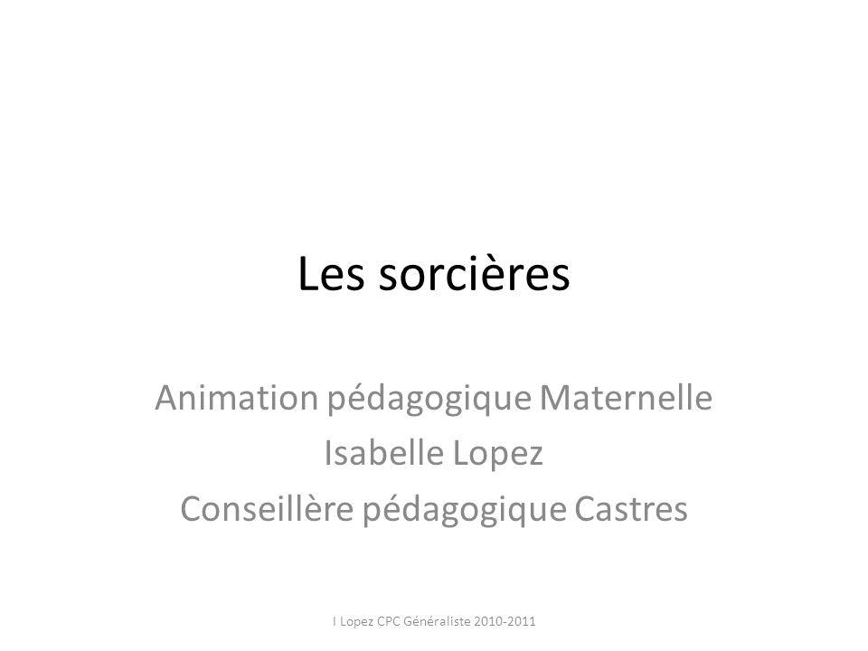 Les sorcières Animation pédagogique Maternelle Isabelle Lopez