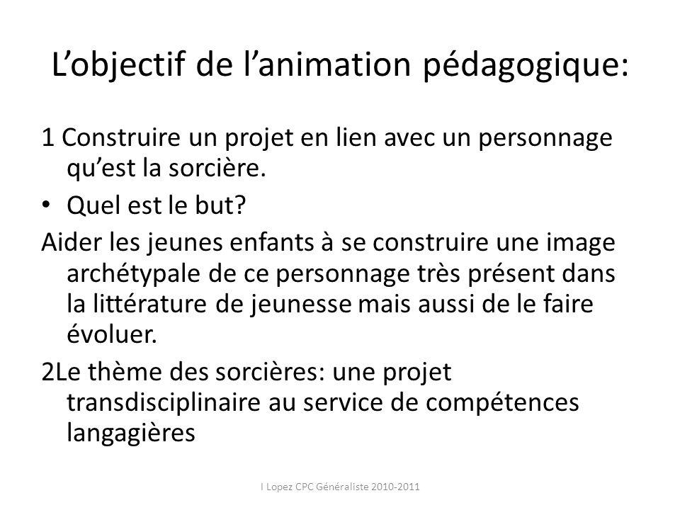 L'objectif de l'animation pédagogique: