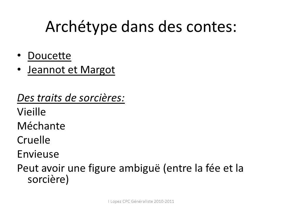 Archétype dans des contes: