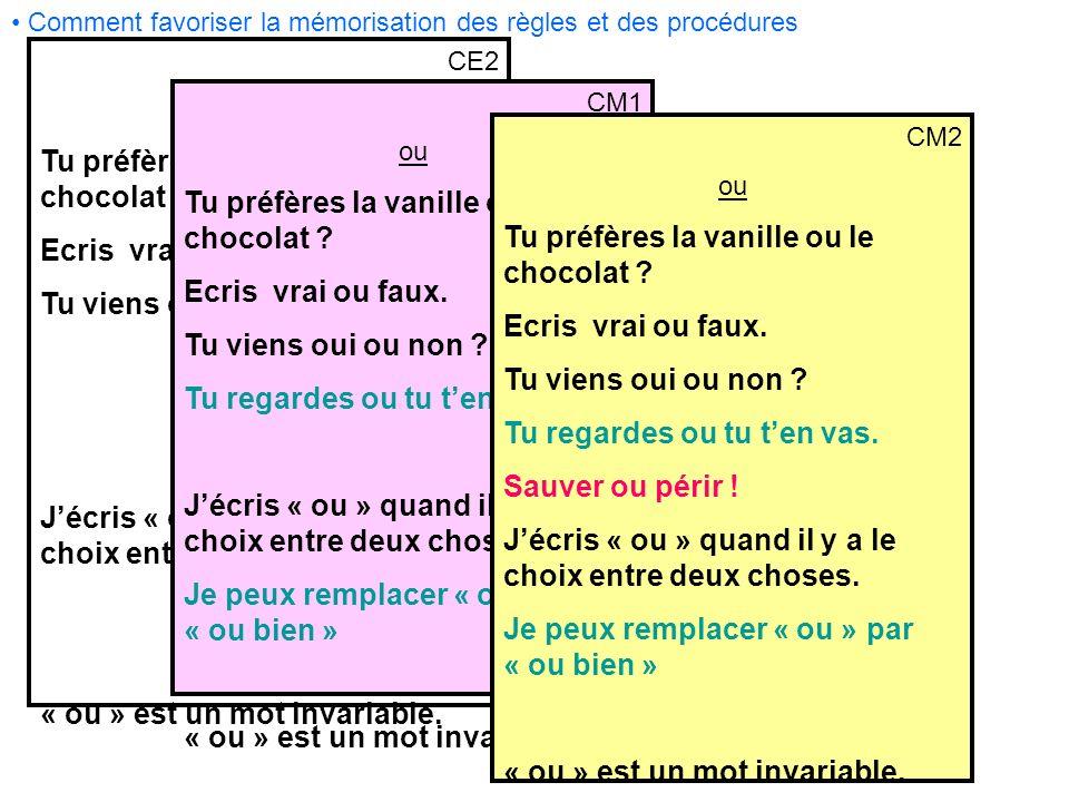 Tu préfères la vanille ou le chocolat Ecris vrai ou faux.