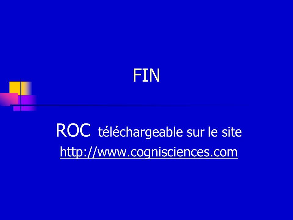 ROC téléchargeable sur le site http://www.cognisciences.com