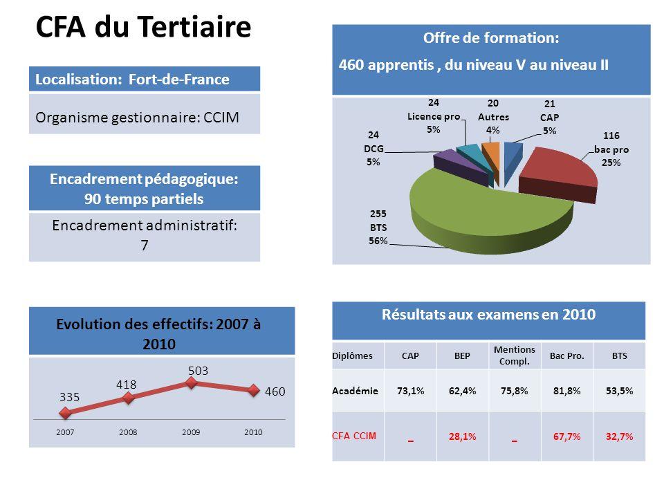 CFA du Tertiaire Offre de formation: