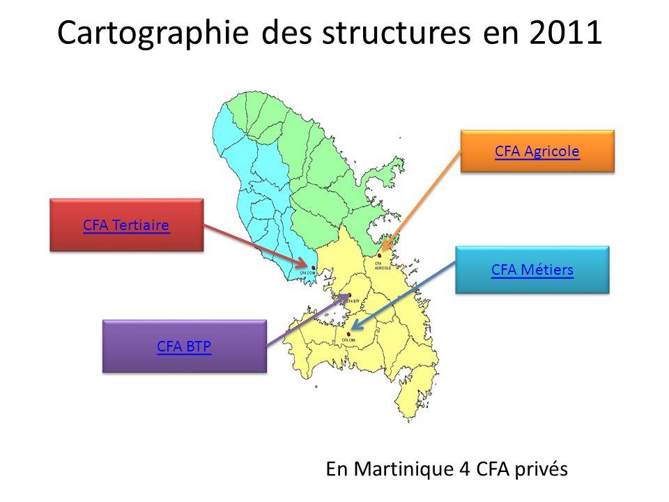 Cartographie des structures en 2011
