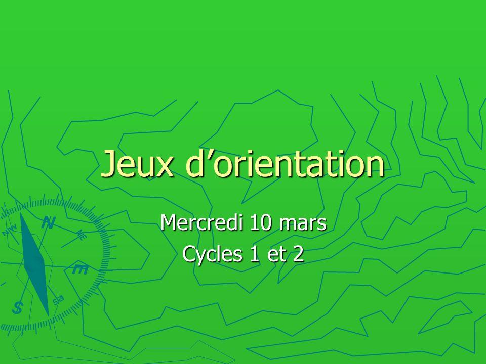 Mercredi 10 mars Cycles 1 et 2