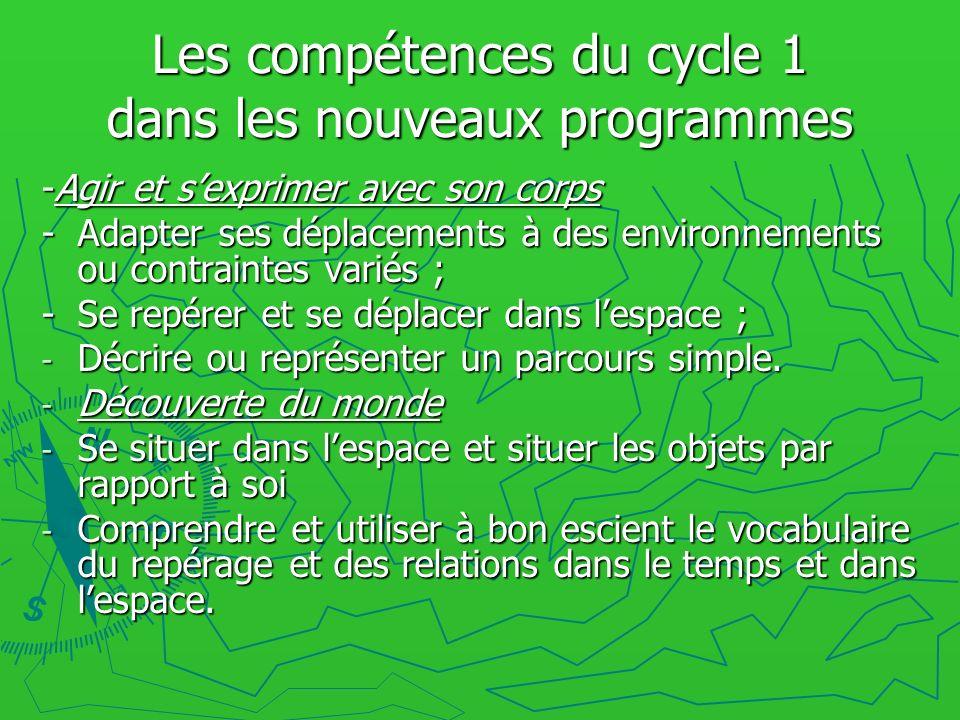 Les compétences du cycle 1 dans les nouveaux programmes