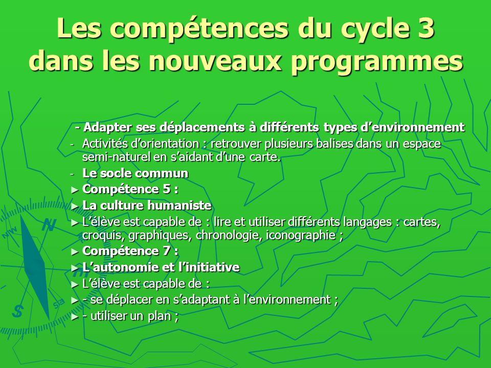 Les compétences du cycle 3 dans les nouveaux programmes