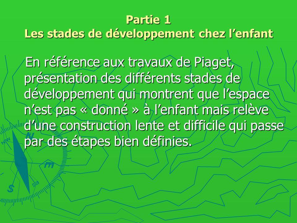 Partie 1 Les stades de développement chez l'enfant