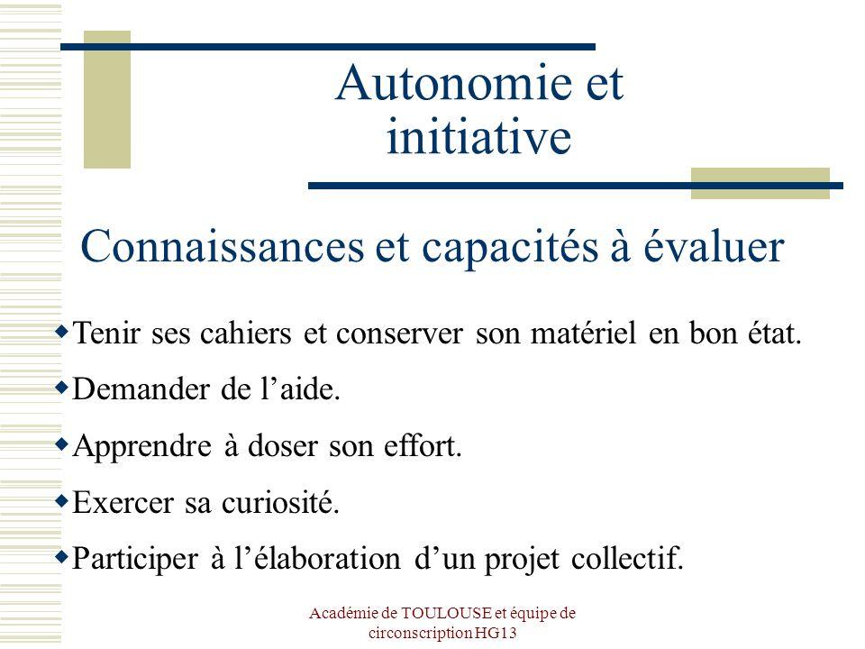 Autonomie et initiative
