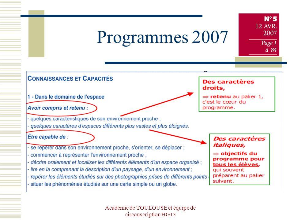 Académie de TOULOUSE et équipe de circonscription HG13