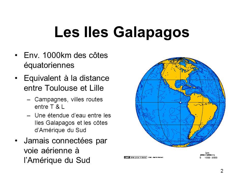 Les Iles Galapagos Env. 1000km des côtes équatoriennes