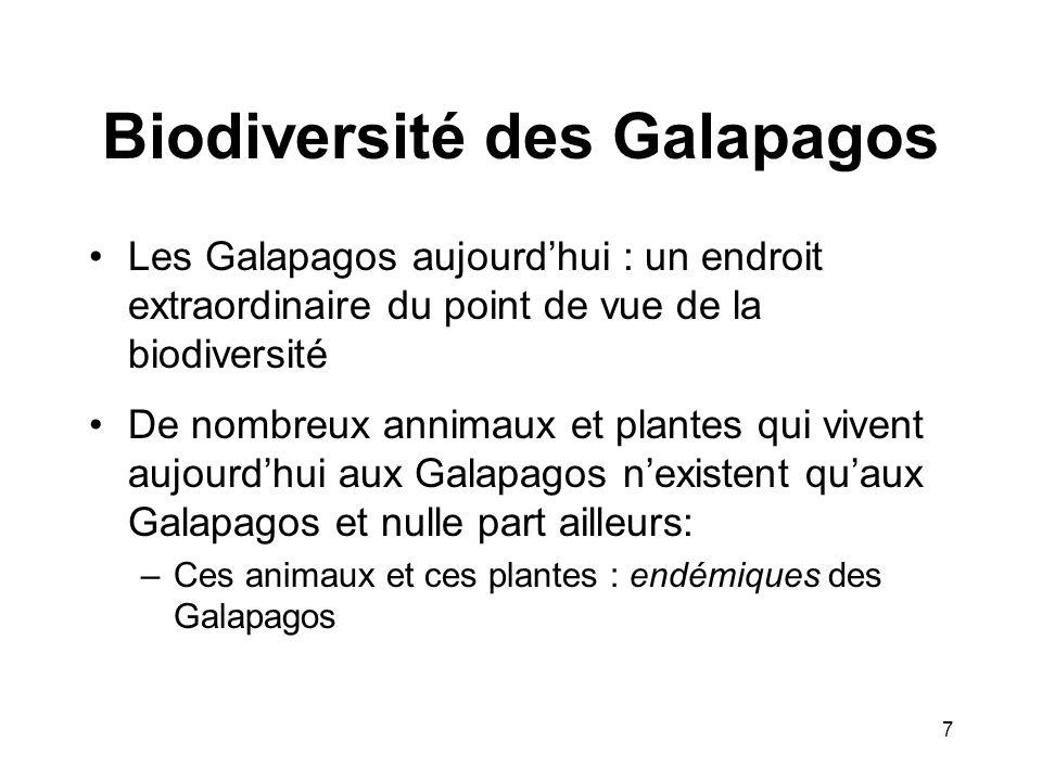 Biodiversité des Galapagos